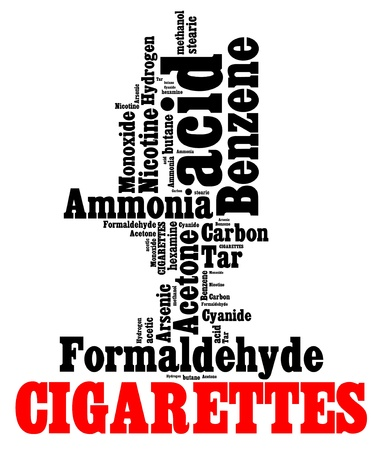 quit: Hazardous chemicals in cigarettes info text graphics and arrangement