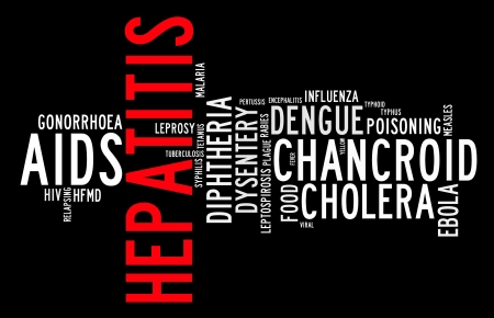 Communicable diseases info text graphics and arrangement  photo