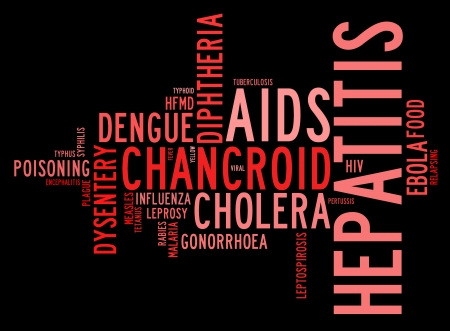 Communicable diseases info text graphics and arrangement  Stock Photo - 16109428
