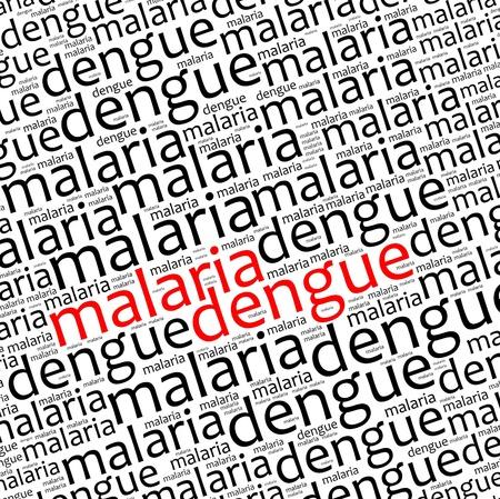 dengue: La malaria e la dengue grafica e la disposizione del testo informativo