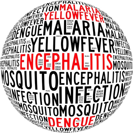 malaria: Mosquito infection diseases info text graphics and arrangement