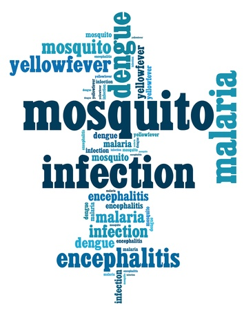 killed: Mosquito infection diseases info text graphics and arrangement