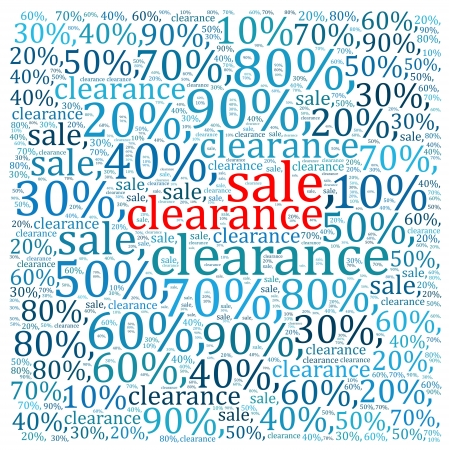 textual: Sales discount info text graphics and arrangement