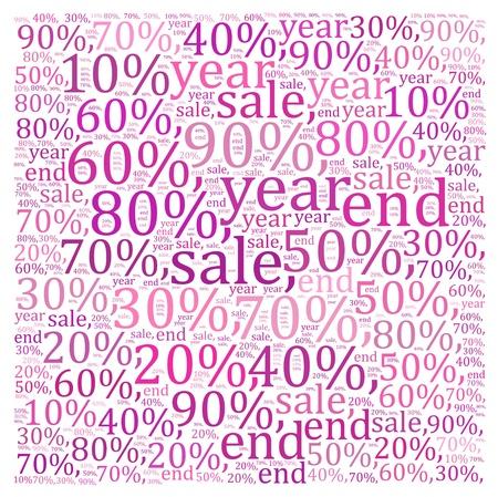 textcloud: Sales discount info text graphics and arrangement