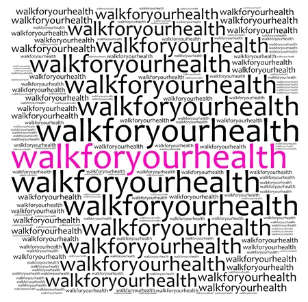 textual: Walk for health info text graphics and arrangement