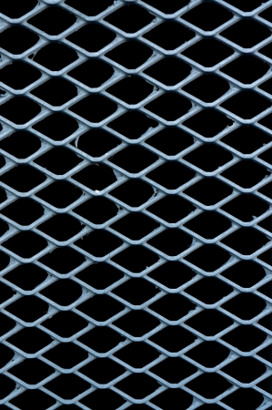 Steel net fence isolated photo