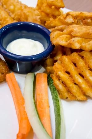 Fast food - fried potato dish Stock Photo - 16109686