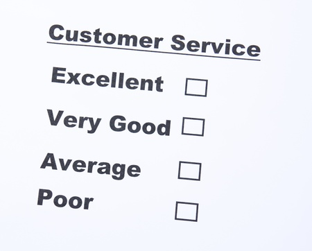 respondent: Customer service survey form  Stock Photo