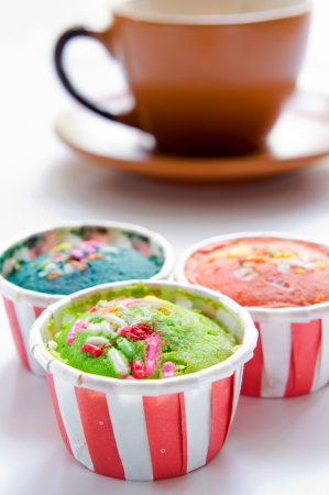 colorful cupcakes isolated photo