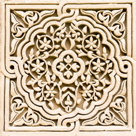 花卉圖案花紋石雕