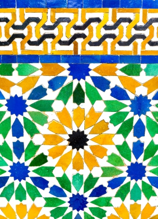 Colorful pattern of mosaic for background photo