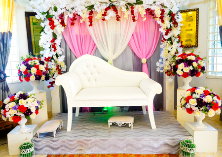 malaysia culture: Decoration of the bride wedding bridal culture of Malay in Malaysia