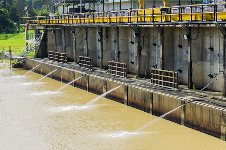 safe drinking water: The water intake at river for treatment raw water at Selangor, Malaysia