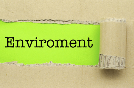 enviroment: Torn Paper with word Enviroment