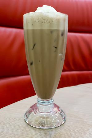 close up: Close up chocolate drink