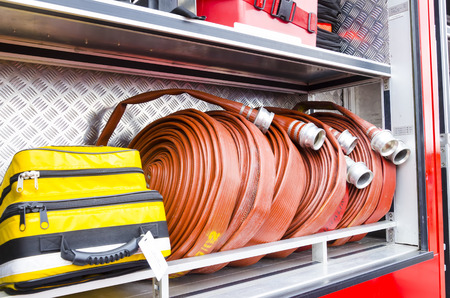 Putrajaya, Malaysia - Feb 26, 2012 : Firefighter heavy duty equipment for emergency response and rescue.