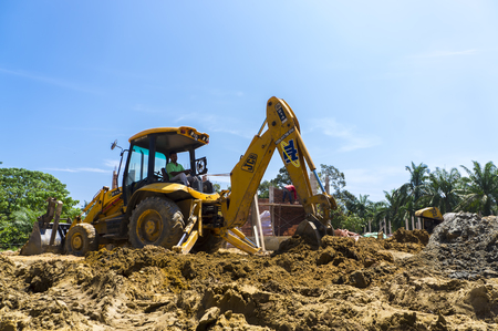 PAHANG,MALAYSIA - March 25,2017: Hydraulic Excavator working in the construction site. Editorial