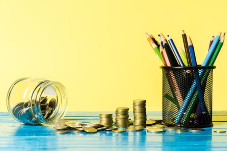 Financial for education concept. Back to school concept. Banco de Imagens