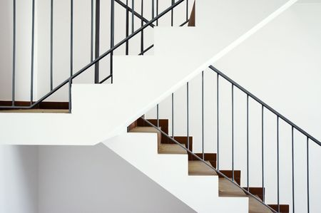 go inside: Flight of stairs in a new house