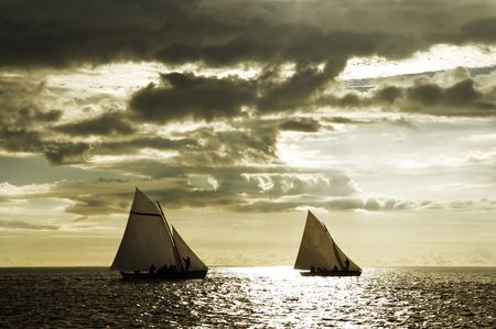 Boat race in open sea Stock Photo - 1789034