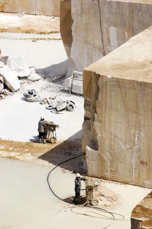 Workers in a marble extraction site, Alentejo, Portugal
