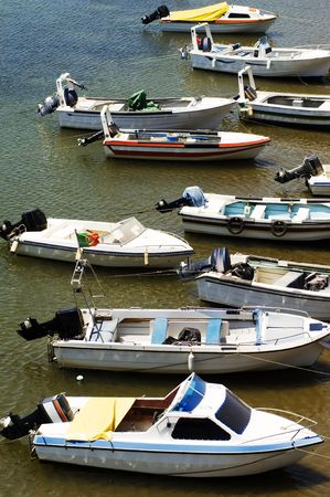 motorboats: Small motorboats moored