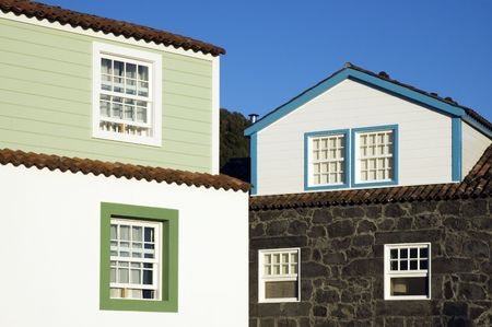 Houses with traditional lofts, Azores photo