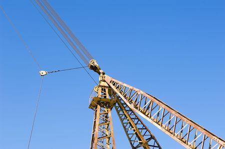Cranes at a marble quarry near Vila Viçosa, Alentejo, Portugal