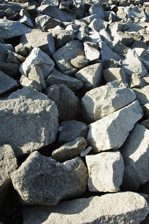 Hard granite stones showing a nice textured contrast Stock Photo - 2486710