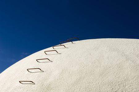 Concreto tanques de vino en una bodega, Alentejo, Portugal  Foto de archivo - 2561632