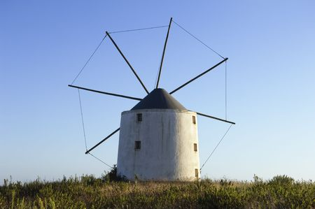 Old windmill in the top of a hill, Portugal Stock Photo - 2712898