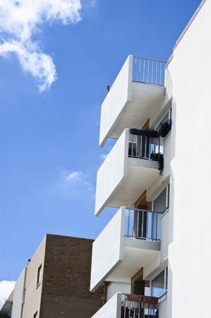verandas: Verandas in apartment block Stock Photo