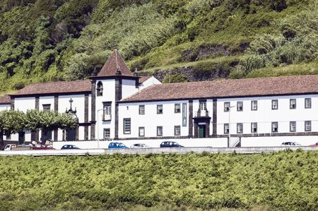 seventieth: Monastery of St. Francis, now the City Hall of Lages do Pico, Pico island, Azores, Portugal  Stock Photo