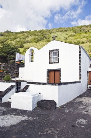 Little church in Lages do Pico, Pico island, Azores, Portugal photo