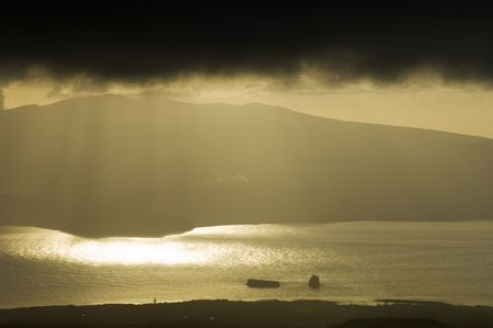 threatening: Threatening storm of Azores islands in Portugal Stock Photo