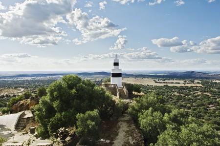 triangulation: Triangulation station overlooking the plains of Alentejo, Portugal