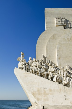 tagus: Padrao dos Descobrimentos (Monument to the Discoveries) in the bank of Tagus river, Lisbon, Portugal