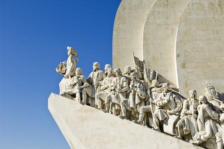 descubridor: Padrao dos Descobrimentos (Monumento a los Descubrimientos), en la ribera del r�o Tajo, Lisboa, Portugal