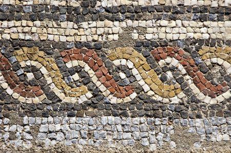 Mosaïques de la Villa romaine de Pisoes près de Beja, Alentejo, Portugal