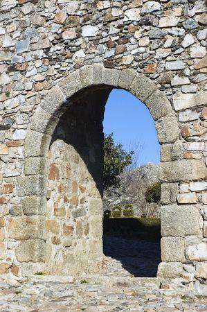 Door in the Castle of Marvao, Alentejo, Portugal photo