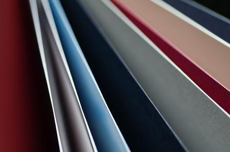 sampler: Closeup of paper sampler