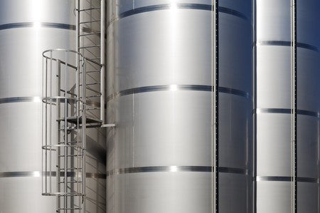 alentejo: Stainless steel tanks in a modern winery, Alentejo, Portugal