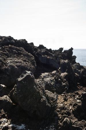 Volcanic rock in Pico island costline, Azores Stock Photo - 9144781