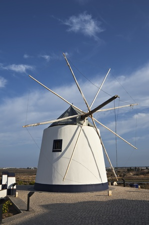 castro: Old windmill in Castro Marim, Algarve, Porugal Stock Photo