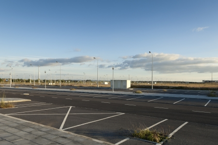 Fully infra-structured vacant lots ready for construction in the industrial park of Evora, Portugal photo