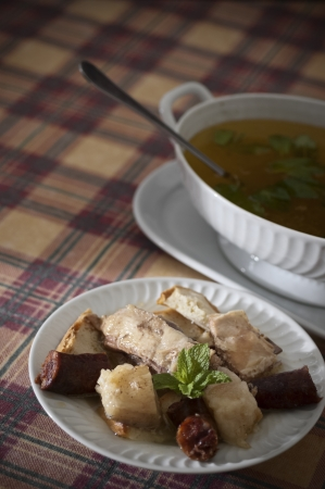 sopa: Real food photographed on location in traditional portuguese restaurants - sopa da panela - Alentejo, Portugal