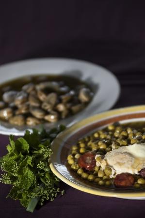 sopa: Real food photographed on location in traditional portuguese restaurants, peas soup - sopa de ervilhas - Alentejo, Portugal