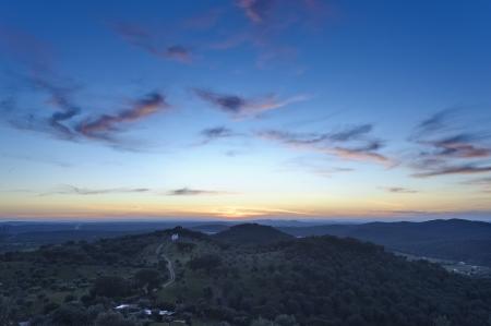 wideangle: Evening wide-angle dramatic cloudscape in Alentejo, Portugal