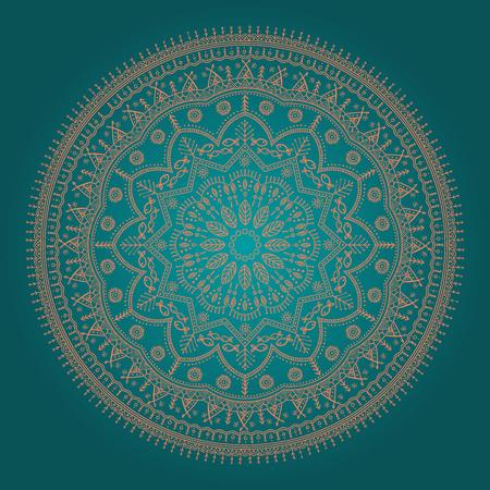 Beautiful ethnic mandala Illustration