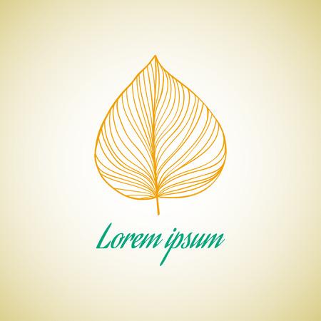 Leaf ideas design vector illustration on background Illustration